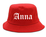 Anna Illinois IL Old English Mens Bucket Hat Red