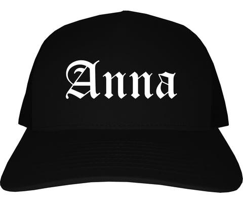Anna Illinois IL Old English Mens Trucker Hat Cap Black