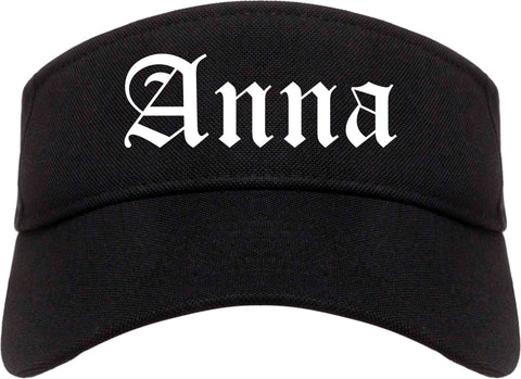 Anna Illinois IL Old English Mens Visor Cap Hat Black