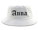 Anna Illinois IL Old English Mens Bucket Hat White