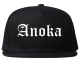 Anoka Minnesota MN Old English Mens Snapback Hat Black