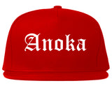 Anoka Minnesota MN Old English Mens Snapback Hat Red