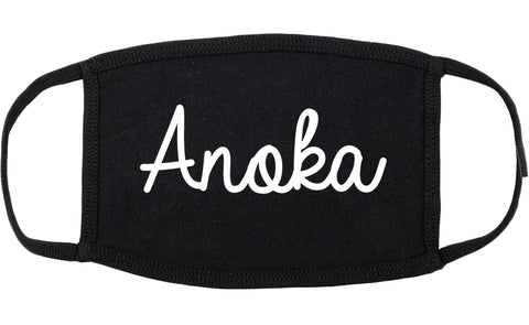 Anoka Minnesota MN Script Cotton Face Mask Black