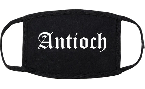 Antioch California CA Old English Cotton Face Mask Black