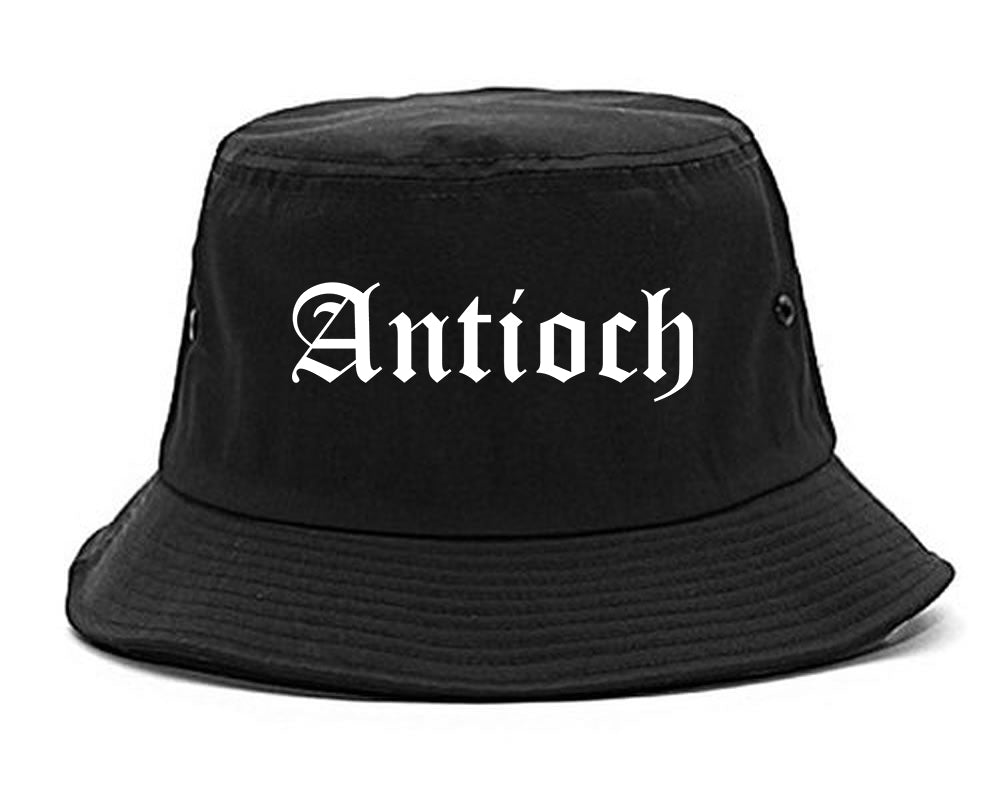 Antioch California CA Old English Mens Bucket Hat Black