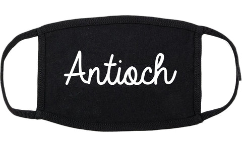 Antioch California CA Script Cotton Face Mask Black