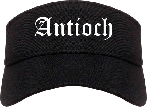 Antioch California CA Old English Mens Visor Cap Hat Black