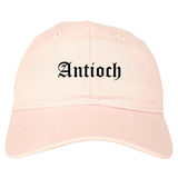 Antioch Illinois IL Old English Mens Dad Hat Baseball Cap Pink