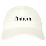 Antioch Illinois IL Old English Mens Dad Hat Baseball Cap White