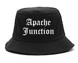 Apache Junction Arizona AZ Old English Mens Bucket Hat Black