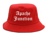 Apache Junction Arizona AZ Old English Mens Bucket Hat Red