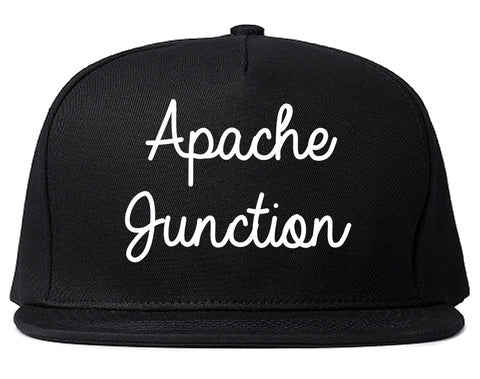 Apache Junction Arizona AZ Script Mens Snapback Hat Black