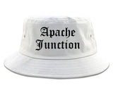 Apache Junction Arizona AZ Old English Mens Bucket Hat White