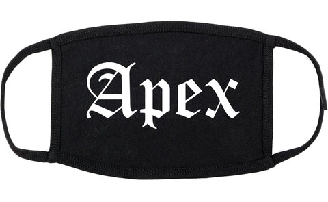 Apex North Carolina NC Old English Cotton Face Mask Black