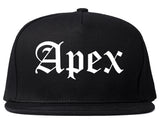 Apex North Carolina NC Old English Mens Snapback Hat Black