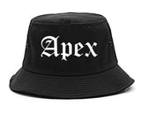 Apex North Carolina NC Old English Mens Bucket Hat Black