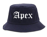 Apex North Carolina NC Old English Mens Bucket Hat Navy Blue