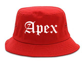 Apex North Carolina NC Old English Mens Bucket Hat Red