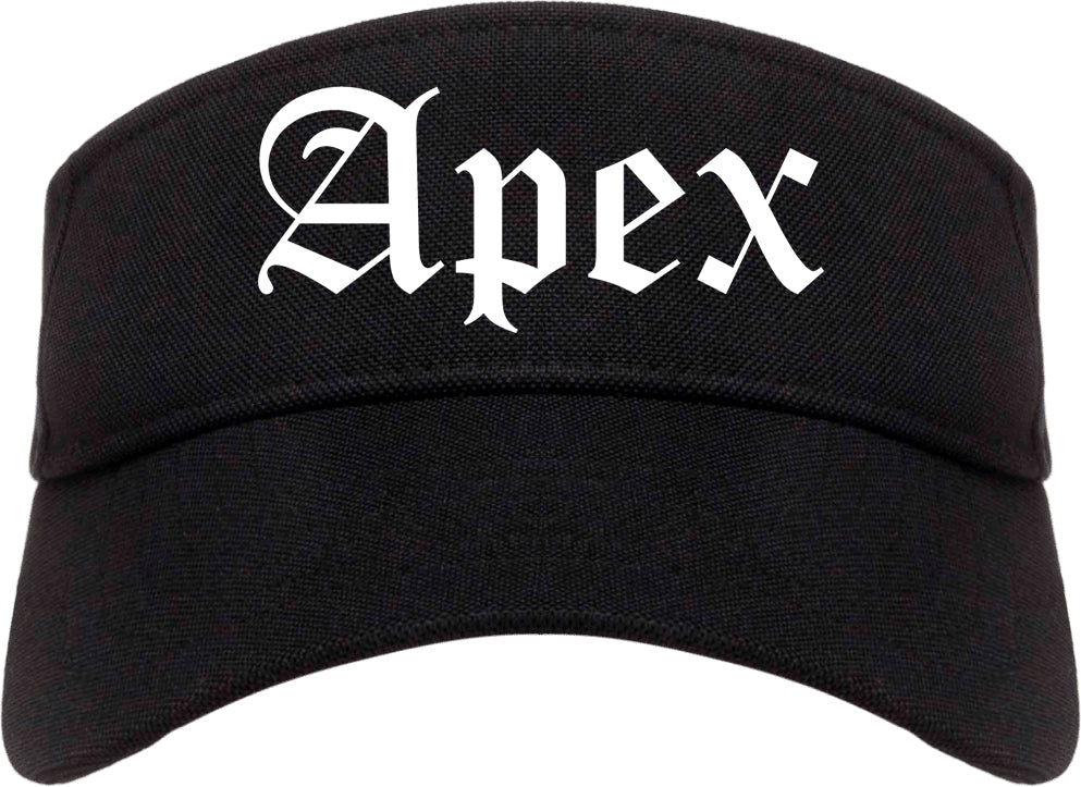 Apex North Carolina NC Old English Mens Visor Cap Hat Black