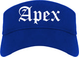 Apex North Carolina NC Old English Mens Visor Cap Hat Royal Blue