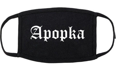 Apopka Florida FL Old English Cotton Face Mask Black