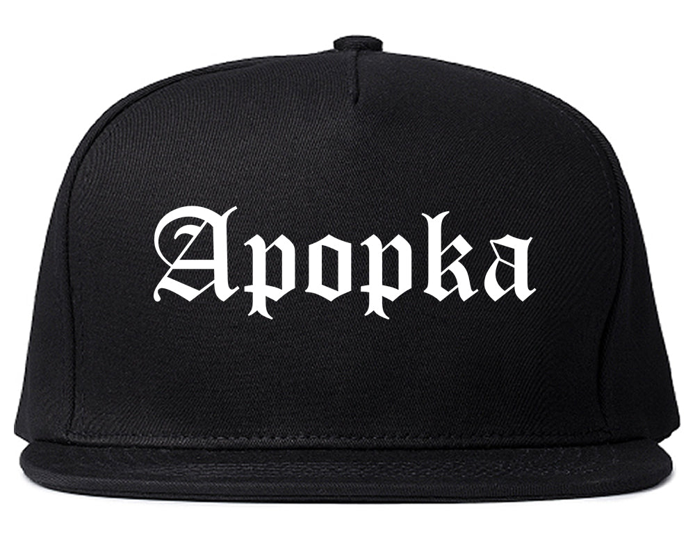 Apopka Florida FL Old English Mens Snapback Hat Black