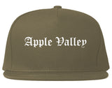 Apple Valley Minnesota MN Old English Mens Snapback Hat Grey