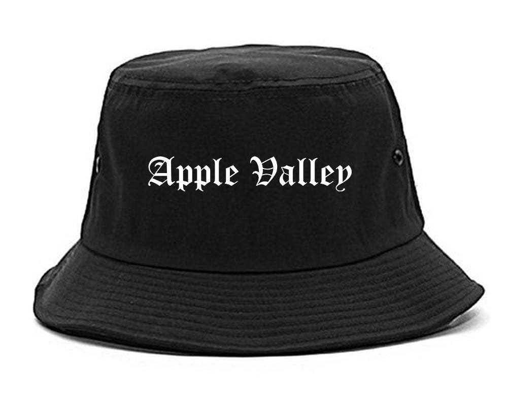 Apple Valley Minnesota MN Old English Mens Bucket Hat Black