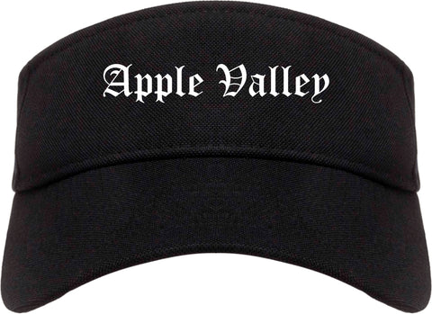 Apple Valley Minnesota MN Old English Mens Visor Cap Hat Black