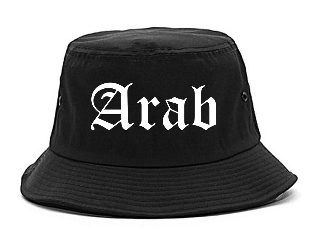 Arab Alabama AL Old English Mens Bucket Hat Black