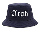 Arab Alabama AL Old English Mens Bucket Hat Navy Blue