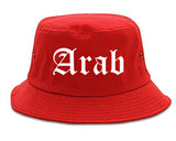 Arab Alabama AL Old English Mens Bucket Hat Red