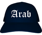 Arab Alabama AL Old English Mens Trucker Hat Cap Navy Blue