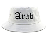 Arab Alabama AL Old English Mens Bucket Hat White