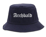 Archbald Pennsylvania PA Old English Mens Bucket Hat Navy Blue