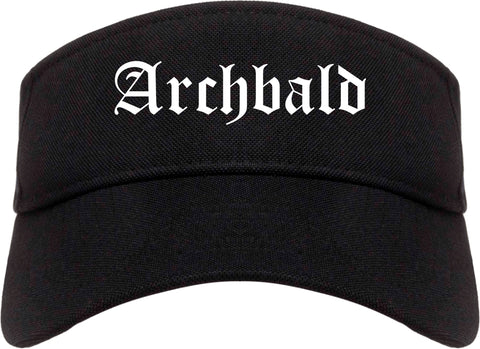 Archbald Pennsylvania PA Old English Mens Visor Cap Hat Black
