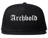 Archbold Ohio OH Old English Mens Snapback Hat Black