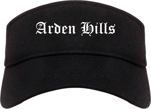 Arden Hills Minnesota MN Old English Mens Visor Cap Hat Black