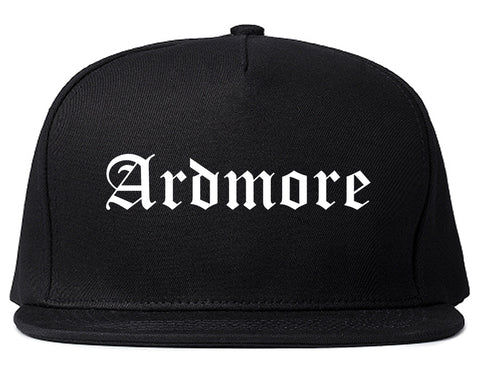 Ardmore Oklahoma OK Old English Mens Snapback Hat Black