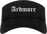 Ardmore Oklahoma OK Old English Mens Visor Cap Hat Black