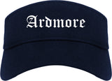 Ardmore Oklahoma OK Old English Mens Visor Cap Hat Navy Blue