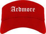Ardmore Oklahoma OK Old English Mens Visor Cap Hat Red