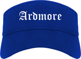 Ardmore Oklahoma OK Old English Mens Visor Cap Hat Royal Blue