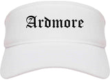 Ardmore Oklahoma OK Old English Mens Visor Cap Hat White