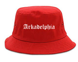 Arkadelphia Arkansas AR Old English Mens Bucket Hat Red