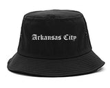 Arkansas City Kansas KS Old English Mens Bucket Hat Black