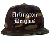 Arlington Heights Illinois IL Old English Mens Snapback Hat Army Camo
