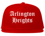 Arlington Heights Illinois IL Old English Mens Snapback Hat Red