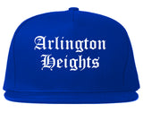 Arlington Heights Illinois IL Old English Mens Snapback Hat Royal Blue