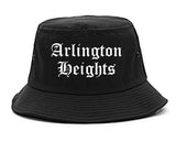 Arlington Heights Illinois IL Old English Mens Bucket Hat Black
